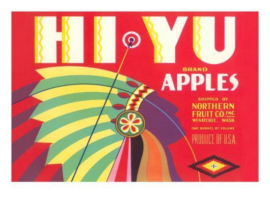 Hi Yu Apples Crate Label--Art Print