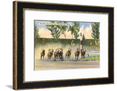 Hialeah Race Track, Miami, Florida--Framed Art Print