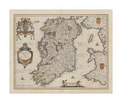 Hibernia Regnum Vulgo Ireland-J. Jansson-Premium Giclee Print