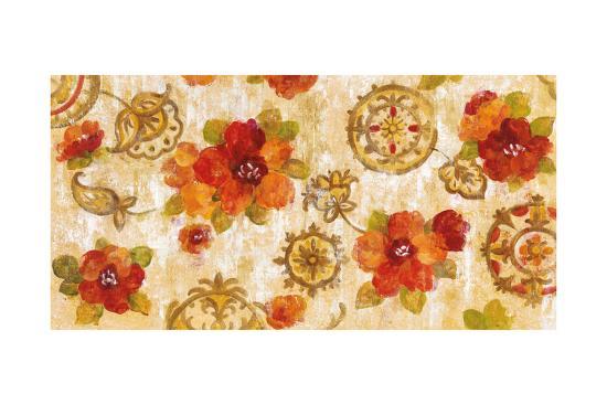 Hibiscus and Mandala-Silvia Vassileva-Art Print