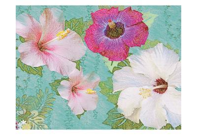 Hibiscus Flowers-Jeffery Cadwallader-Art Print
