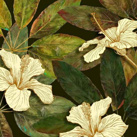 Hibiscus Leaves I Premium Giclee Print By Patricia Pinto Artcom