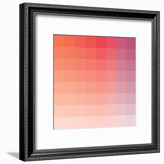 Hibiscus Square Spectrum-Kindred Sol Collective-Framed Art Print