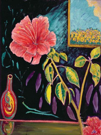 Hibiscus with Vase-Patricia Eyre-Giclee Print
