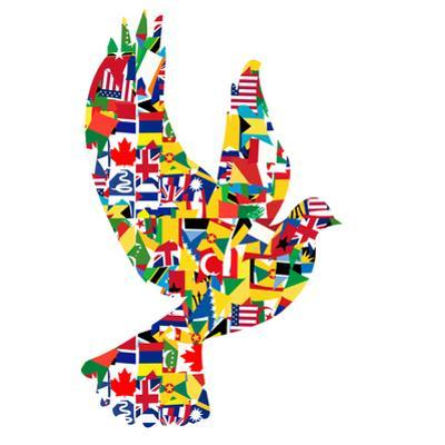 Peace Concept with Dove Made of World Flags by hibrida13