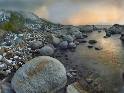 Hidden Beach at Sunrise, Lake Tahoe, Nevada, Usa-Tim Fitzharris-Photographic Print