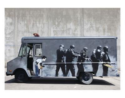 Hide-Banksy-Art Print