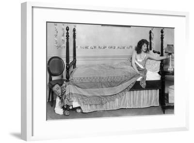 Hiding under Bed--Framed Photo