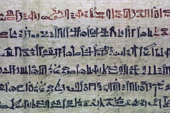 Hieratic Egyptian script from the Book of the Dead. Artist: Unknown-Unknown-Giclee Print