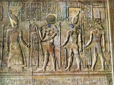 Hieroglyphic Relief, Temple of Kom Ombo, Egypt, 20th Century--Giclee Print