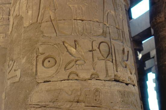 Hieroglyphics Carved on a Column at the Temple of Karnak, Egypt, C14th-13th Century Bc--Photographic Print