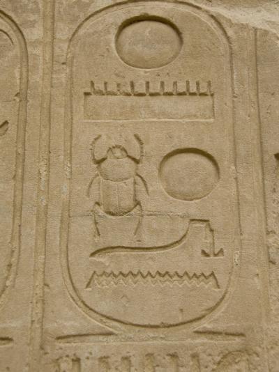 Hieroglyphics detail, Karnak Temple, East Bank, Luxor, Egypt-Cindy Miller Hopkins-Photographic Print