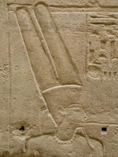 Hieroglyphics detail of Amon, Karnak Temple, East Bank, Luxor, Egypt-Cindy Miller Hopkins-Photographic Print
