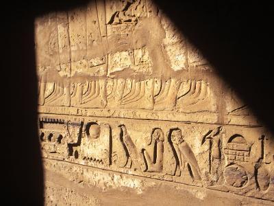 Hieroglyphics on Entrance to the Temple of Karnak-Mark Hannaford-Photographic Print