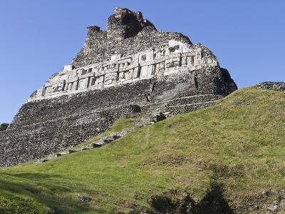 Hieroglyphs on Wall Facade of El Castillo Pyramid, Xunantunich Ancient Site, Cayo District, Belize-William Sutton-Photographic Print
