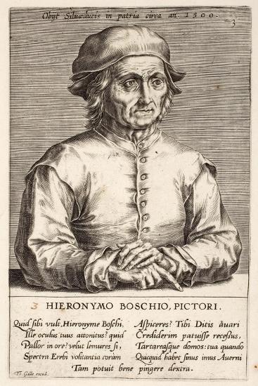 Hieronymous Bosch, Plate 3 from the Series Pictorum Aliquot Celebrium Germanaie Inferioris Effigies-Johan Wierix-Giclee Print