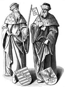 The Duke of Saxony and the Marquis of Brandenburg, C16th Century by Hieronymous Wierix
