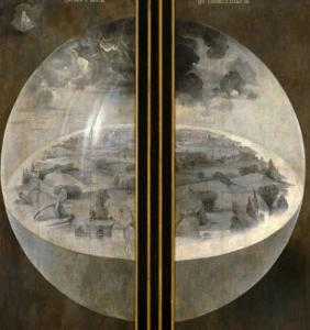 Garden of Delights, Closed Wings: The Creation of the World, Triptich with Shutters by Hieronymus Bosch