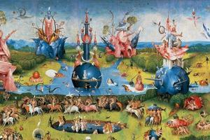 Garden of Earthly Delights,(Martyrs & Angels) by Hieronymus Bosch, c. 1503-04. Prado. Detail. by Hieronymus Bosch