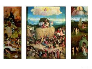 Haywain (Triptych) by Hieronymus Bosch