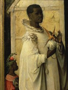 King Gaspard, from Adoration of the Magi, Tripytch, C.1495 by Hieronymus Bosch