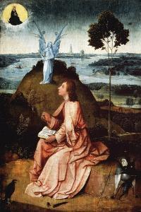St John on Patmos, 1485 by Hieronymus Bosch