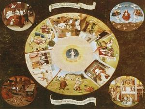 Table-Top with the Seven Deadly Sins by Hieronymus Bosch