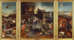 Temptation of Saint Anthony, Triptych 1505-6 by Hieronymus Bosch
