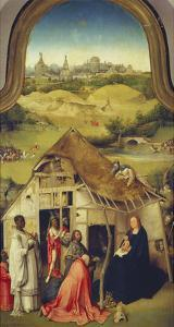 The Adoration of the Magi. (Center Panel of the Epiphany Altarpiece), about 1510 by Hieronymus Bosch