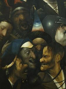 The Carrying of the Cross. (Detail) by Hieronymus Bosch