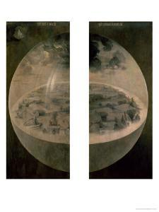 """The Creation of the World, Closed Doors of the Triptych """"The Garden of Earthly Delights,"""" c. 1500 by Hieronymus Bosch"""