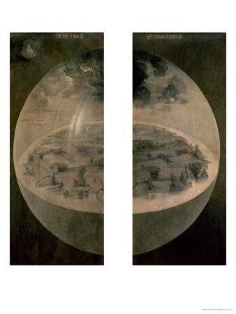 """The Creation of the World, Closed Doors of the Triptych """"The Garden of Earthly Delights,"""" c. 1500"""