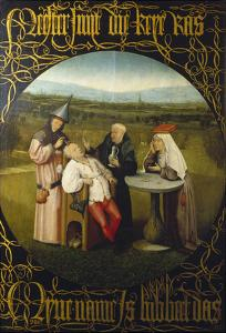 The Extraction of the Stone of Madness (The Cure of Folly), ca. 1490 by Hieronymus Bosch