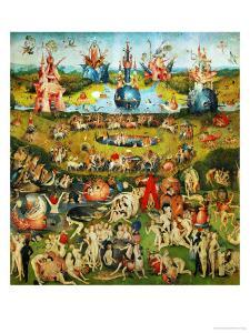 The Garden of Delights, Triptych, Center Panel by Hieronymus Bosch