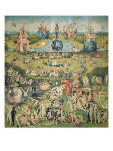 The Garden of Earthly Delights. Central Panel of Triptych by Hieronymus Bosch