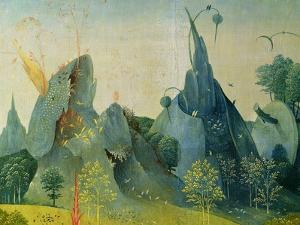 The Garden of Eden, Detail from the Right Panel of the Garden of Earthly Delights, c.1500 by Hieronymus Bosch