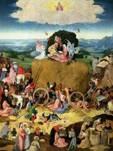 The Haywain: Central Panel of the Triptych, circa 1500 by Hieronymus Bosch