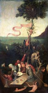 The Ship of Fools, circa 1500 by Hieronymus Bosch