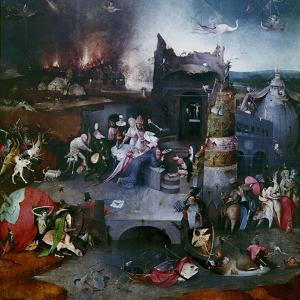 The Temptation of Saint Anthony (Central Panel of a Triptyc), Between 1495 and 1515 by Hieronymus Bosch