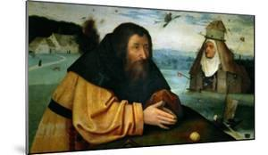 The Temptation of St. Anthony Abbot, the Head of an Abbess Sits Atop a Whorehouse by Hieronymus Bosch