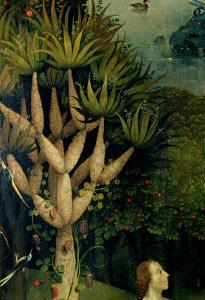 The Tree of the Knowledge of Good and Evil, Fr. the Right Panel of the Garden of Earthly Delights by Hieronymus Bosch