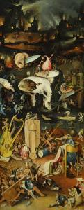 Triptych of the Garden of Earthly Delights, Right-Hand Panel with Hell by Hieronymus Bosch