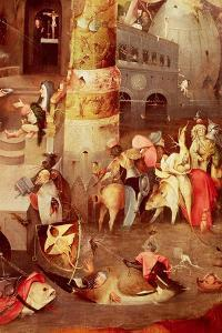 Triptych of the Temptation of St. Anthony, Detail of the Lower Right Hand Side by Hieronymus Bosch