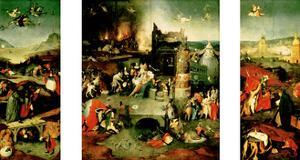 Triptych: the Temptation of St. Anthony by Hieronymus Bosch