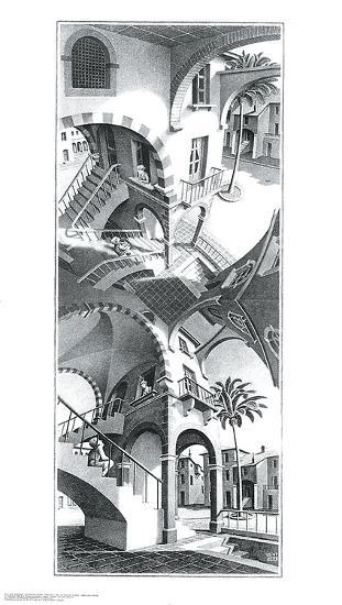 High and Low-M^ C^ Escher-Art Print