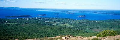 High Angle View of a Bay, Frenchman Bay, Bar Harbor, Hancock County, Maine, USA--Photographic Print