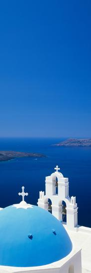 High Angle View of a Church, Firostefani, Santorini, Cyclades Islands, Greece--Photographic Print