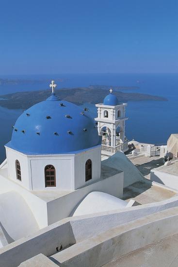 High Angle View of a Church, Imerovigli, Santorini, Cyclades Islands, Greece--Photographic Print