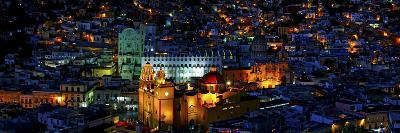 High Angle View of a City, Basilica of Our Lady of Guanajuato, University of Guanajuato--Photographic Print