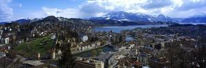 High Angle View of a City, Chateau Gutsch, Lucerne, Switzerland
